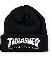 Thrasher Embroidered Logo Black Beanie
