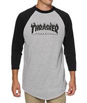 Thrasher Flame Baseball T-Shirt
