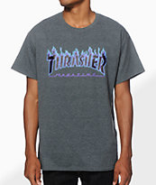 Thrasher Flame Logo Purp T-Shirt