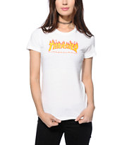 Thrasher Flame Logo Slim Fit T-Shirt