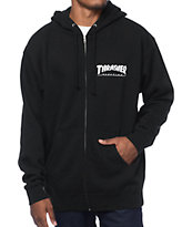 Thrasher Logo Black Zip Up Hoodie