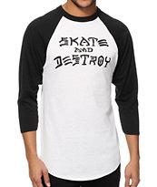 Thrasher Skate & Destroy Baseball T-Shirt