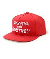 Thrasher Skate & Destroy Logo Snapback Hat