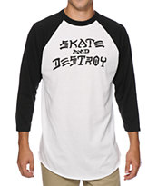 Thrasher Skate And Destroy Baseball T-Shirt