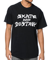 Thrasher Skate And Destroy Black Tee Shirt