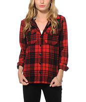 Thread & Supply Emily Hooded Flannel Jacket