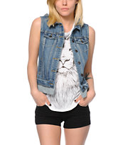 Thread & Supply Hooded Denim Vest