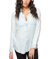 Thread & Supply Light Wash Tencel Boyfriend Fit Shirt