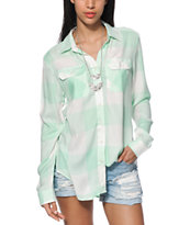 Thread & Supply Mint Boyfriend Fit Plaid Shirt