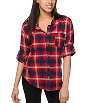 Thread & Supply Polka Dot Trim Plaid Flannel
