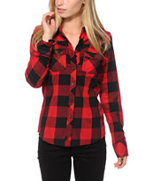 Thread & Supply Stretch Red Plaid Shirt