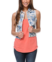Thread and Supply Novelty Acid Wash Denim Vest