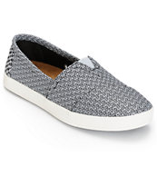 Toms Avalon Black & Grey Mesh Women's Shoes