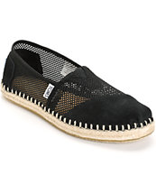 Toms Classic Black Mesh Women's Shoes