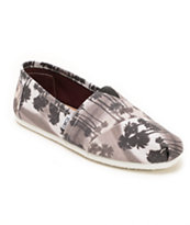 Toms Classic Black Palm Trees Shoe