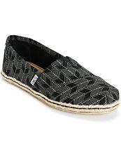 Toms Classic Black Shashiko Women's Shoes