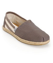 Toms Classic University Grey Stripe Women's Shoes