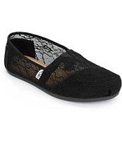 Toms Classics Black Lace Women's Shoes