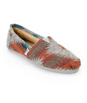 Toms Classics Grey & Red Friday Wool Shoes