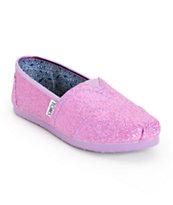 Toms Classics Lilac Glitter Kids Shoe