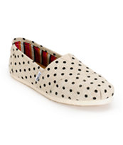 Toms Classics Natural Hemp Polka Dot Women's Shoes
