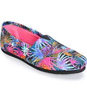 Toms Classics Palms Print Women's Canvas Shoes