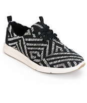 Toms Del Rey Black Tribal Women's Shoes