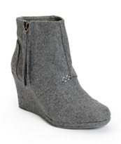 Toms Desert Wedge Highs Grey Wool Wedges