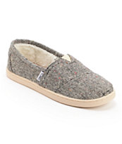 Toms Karsen Silver Slip On Kids Shoe