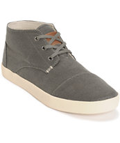Toms Paseo Mid Taupe Aviator Twill Shoes