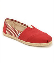 Toms University Rope Sole Classics Red Women's Shoes