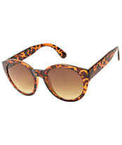 Tortoise Shell Large Round Cateye Sunglasses