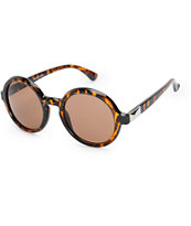 Tortoise Shell Large Round Sunglasses