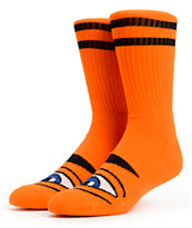 Toy Machine Sect Eye Orange Crew Socks