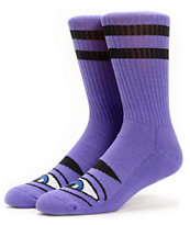 Toy Machine Sect Eye Purple Crew Socks