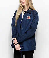 Toy Machine x RVCA Navy Coaches Jacket