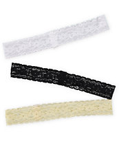 Trillium 3 Pack Lace Headbands