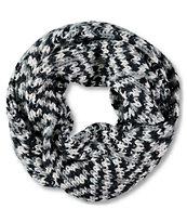 Trillium Black & Grey Knit Infinity Scarf