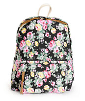 Trillium Black Floral Print Backpack