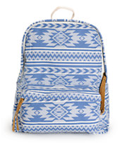 Trillium Blue Tribal Canvas Backpack