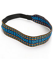 Trillium Blue Tribal Woven Headband