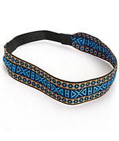 Trillium Blue Tribal Woven Headband