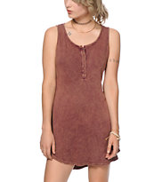 Trillium Burgundy Ribbed Tank Dress