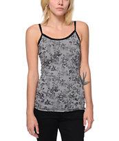 Trillium Floral Print Grey Cami Tank Top