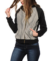 Trillium Guatemalan Stripe Fleece Bomber Jacket