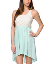 Trillium Jules Mint Crochet High Low Dress