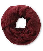 Trillium Kajsa Burgundy Knit Infinity Scarf