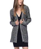 Trillium Liza Heather Black Hooded Cardigan