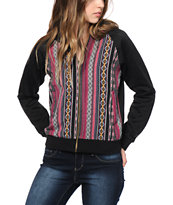 Trillium Multi Stripe Fleece Bomber Jacket