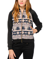 Trillium Multi Tribal Fleece Bomber Jacket